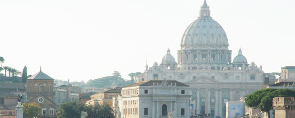 View of St. Peter's Basilica at Vatican from River
