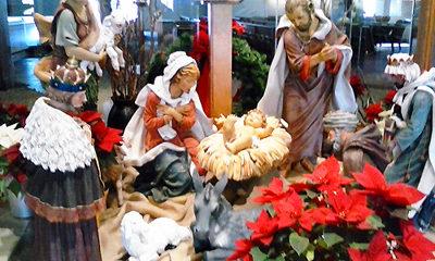 Nativity Scene Statuary at Church (c) Steven C. Welsh