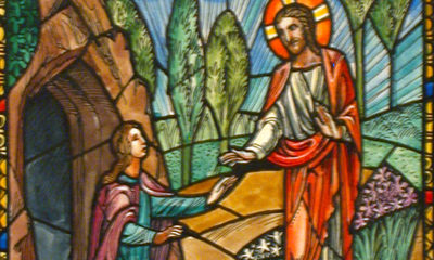 Jesus and Mary Magdalene After Resurrection, adapted from image at loc.gov