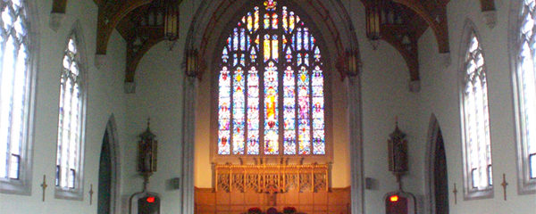 Adapted from Image at Creative Commons Wikimedia Commons Pjposullivan, https://commons.wikimedia.org/wiki/File:Loretto_Abbey_chapel_interior,_Toronto.JPG, with notice stating This file is licensed under the Creative Commons Attribution-Share Alike 4.0 International license. You are free: to share – to copy, distribute and transmit the work to remix – to adapt the work; Under the following conditions: attribution – You must attribute the work in the manner specified by the author or licensor (but not in any way that suggests that they endorse you or your use of the work). share alike – If you alter, transform, or build upon this work, you may distribute the resulting work only under the same or similar license to this one.