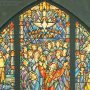 File Image of Pentecost Stained Glass Window Design Drawing, adapted from image at loc.gov attributed to J. & R. Lamb Studios 1857