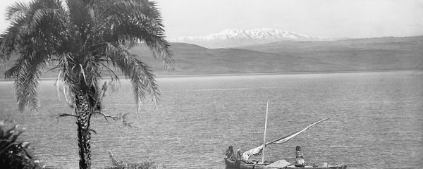 Sea of Galilee file photo, adapted from image at loc.gov