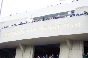 Notre Dame Stadium facade file photo