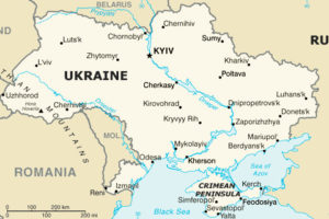 Map of Ukraine and Environs