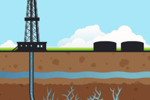 Artist's Rendition of Fracking