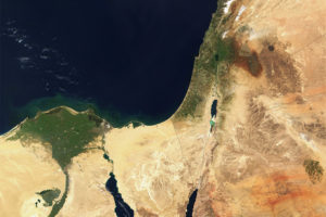 Eastern Mediterranean Satellite Photo