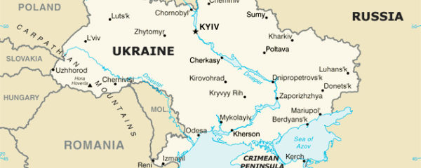 Map of Ukraine and Environs, Including Russia