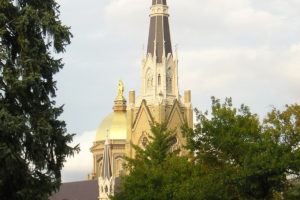 File Photo of the Baslica of the Sacred Heart and Golden Dome at the University of Notre Dame