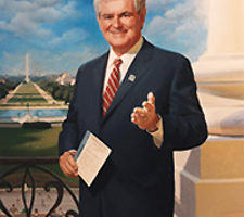Newt Gingrich Painting
