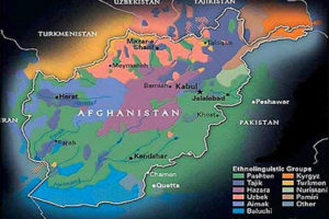 Afghanistan and Environs Ethnic Map