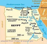 Egypt Map, adapted from image at export.gov