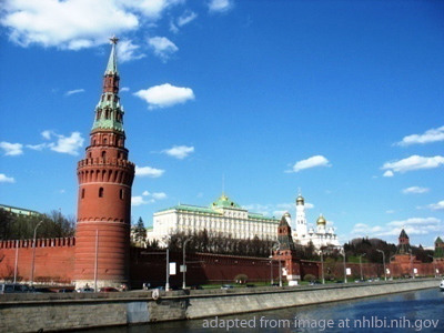 File Photo of Kremlin Wall and Tower Near River