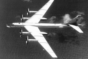 Russian TU-95 Bear Bomber File Photo