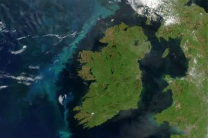 Ireland Satellite Image adapted from image at nasa.gov