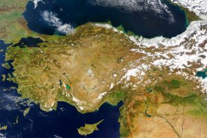 Turkey Satellite Photo adapted from image at nasa.gov