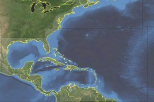 Western Atlantic Ocean Satellite Image, adapted from image at ods.mil