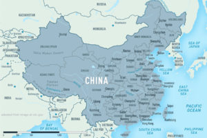 China Map, adapted from image at cdc.gov