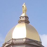 Notre Dame's Golden Dome, file photo by Steven C. Welsh