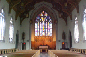 Loretto Abbey Chapel in Toronto, adapted from image posted by Pjposullivan at wikimedia commons