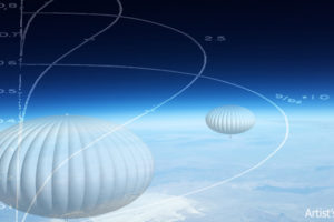 Artist's Conception of High-Altitude Balloons on Edge of Space, adapted from image at darpa.mil