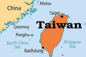 Taiwan Map, adapted from image at export.gov